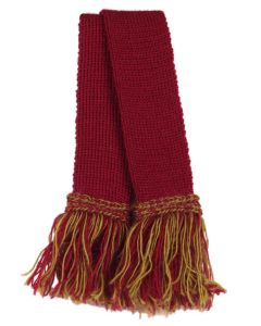 Wool Garter - Cherry and Sage