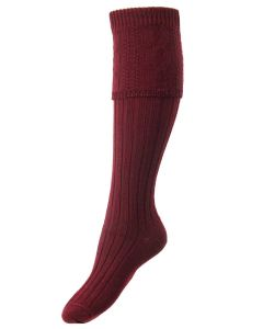 The Lady Glenmore Shooting Sock, Burgundy