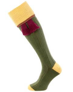 The Cobnash 'Moss & Straw' Cotton Shooting Sock