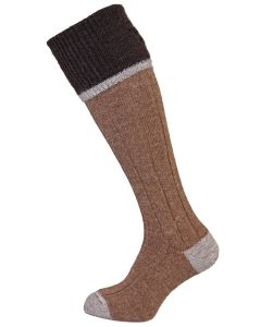 The Easton Luxury Alpaca Shooting Sock - Brown
