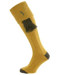 Antique Gold - Imperial Embroidered Shooting Socks