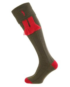 Olive Green - Imperial Embroidered Shooting Socks