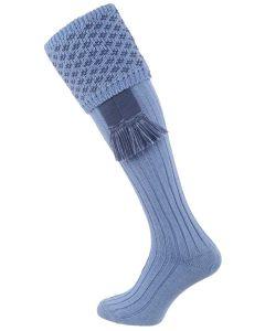 The Boughton Shooting Sock - Blue & St Andrews Blue -