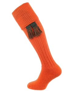 The Dinmore Cushion Foot Shooting Sock, Saffron