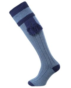 The Willersley Shooting Sock, Periwinkle & Midnight