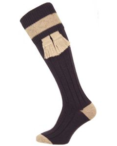 The Marlbrook Old Navy & Linen Merino Shooting Sock