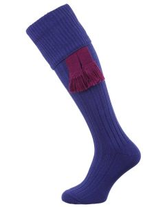The Dodmarsh Cotton Shooting Sock, Peacock
