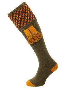 The Cromarty Cushion Foot Shooting Sock, Bracken MK2