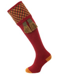 The Cromarty Cushion Foot Shooting Sock, Brick Red MK2