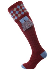 The Chequers Shooting Socks, Burgundy