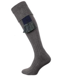The Dormington Cushion Sole Cotton Shooting Sock, Nimbus Marl