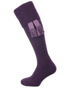 The Woolhope Cushion Sole Shooting Sock, Heather