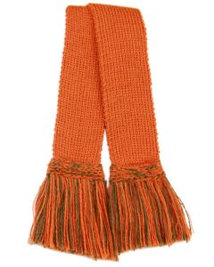 Classic Merino Blend Garter - Burnt Orange with Orange & Spruce