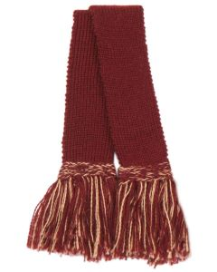 Shooting Sock Garter, Burgundy with Camel