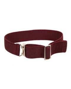 Heavy Gauge, Fully Adjustable Elasticated Sock Garter, Burgundy