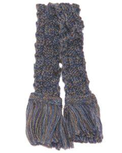 Basket Weave Garter - Blue Lovat Marl