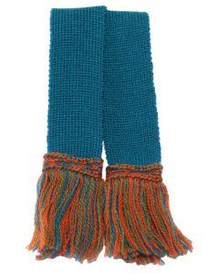 Extra Fine Merino Wool Contrast Garter - Hummingbird Tri-Colour