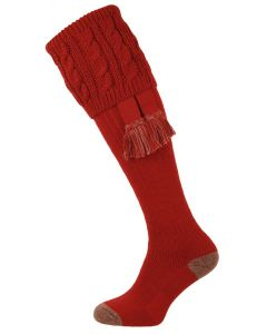 The Sutherland Brick Red Cushion Foot Shooting Sock