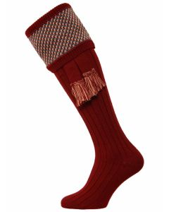 The Tayside Raindrop Shooting Sock - Burgundy