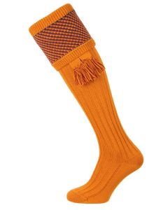 The Tayside Ochre Raindrop Shooting Sock