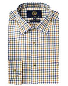 Viyella Men's Cotton and Merino Blend Men's Checked Shirt