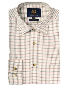 Viyella Classic Cotton Tattersall Shirt, Lovat