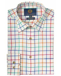 Viyella Men's Cotton Large Tattersall Shirt, Bright Check