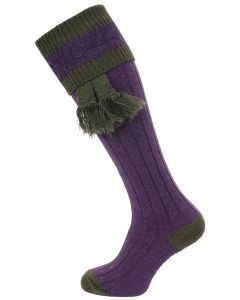 The Willersley Shooting Sock, Heather & Olive