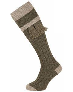 The Willersley 'Derby Tweed & Stone' Shooting Sock