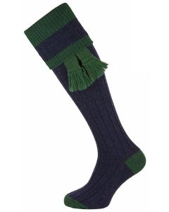 The Willersley 'Midnight & Forest' Shooting Sock