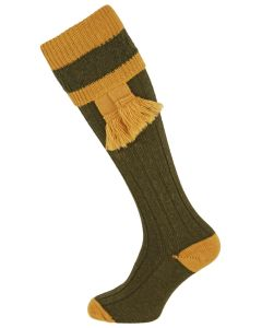 The Willersley 'Olive & Gold' Shooting Sock