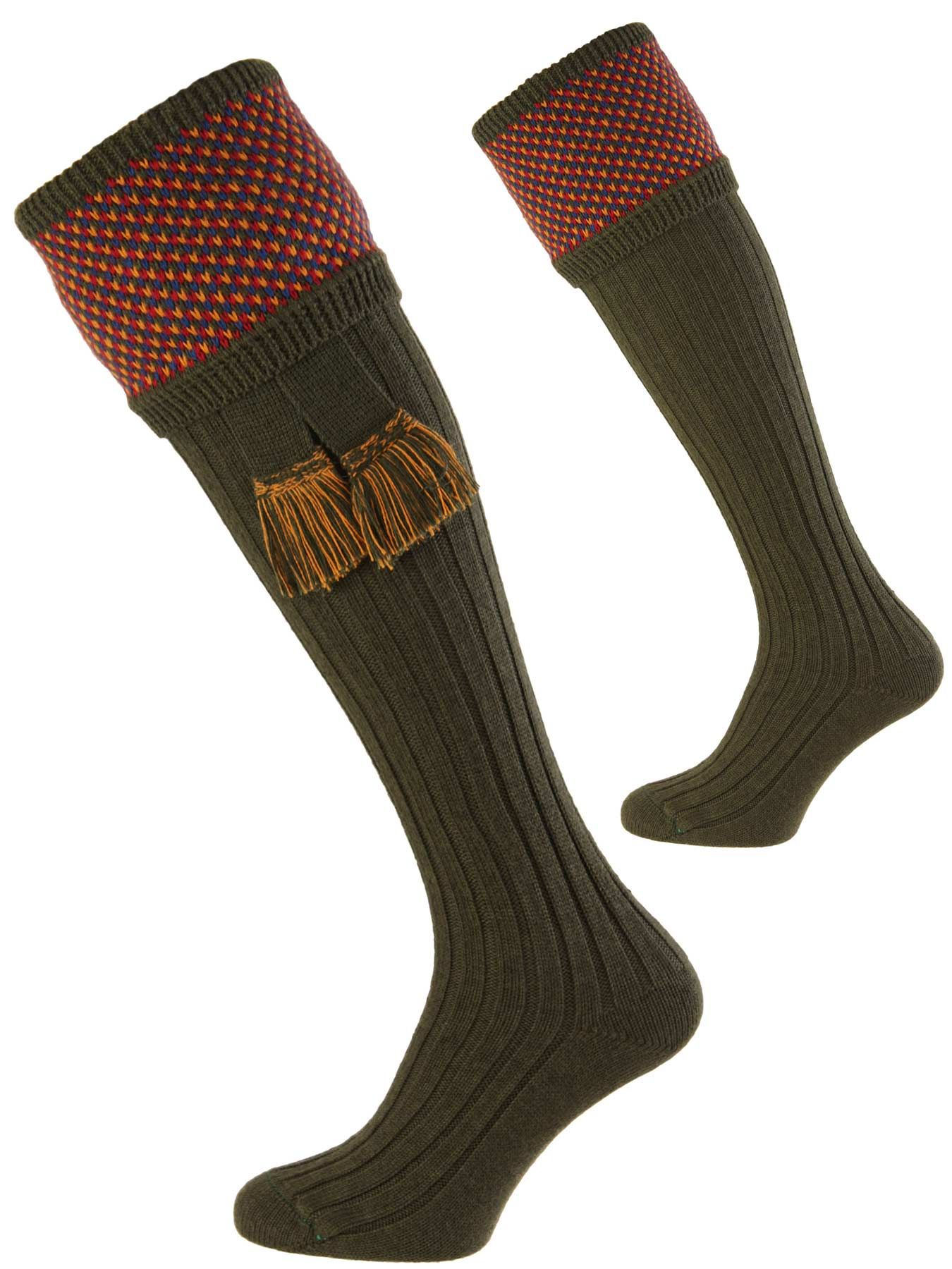 NEW High Quality House Of Cheviot Tayside Pattern Shooting Socks Size Choices