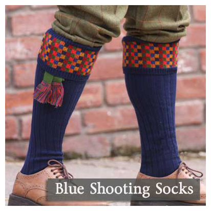 Blue Shooting Socks