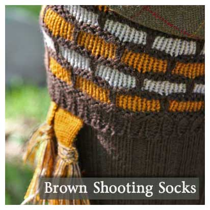 Brown Shooting Socks