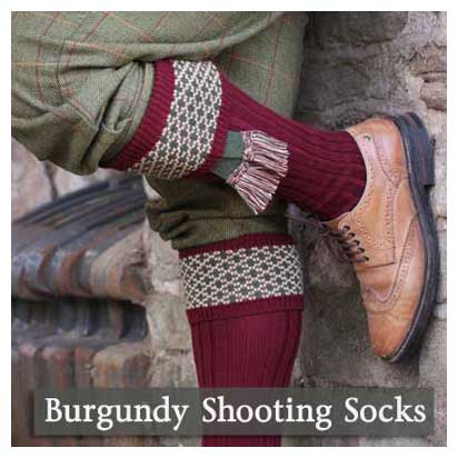 Bugundy Shooting Socks