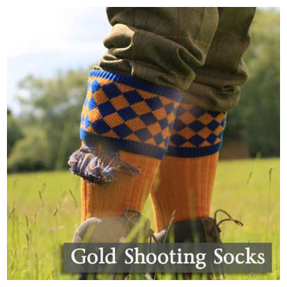 Gold Shooting Socks