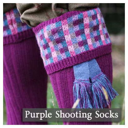 Purple Shooting Socks