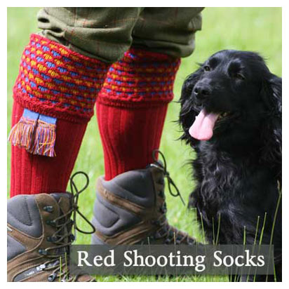 Red Shooting Socks