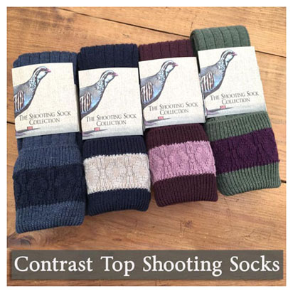 Contrast Top SHooting Socks