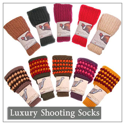 Luxury Hand Knitted Shooting Socks