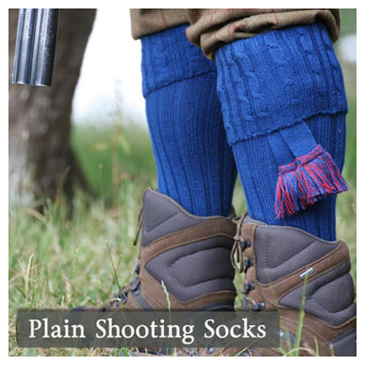 Plain Shooting Socks